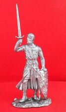 Handmade Tin metal collection model toy figurine 54 mm English knight