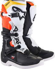 Alpinestars Men's Tech 3 Motorcycle Boot Black/Orange/White/Yellow All Sizes