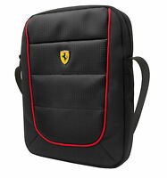 """Genuine Ferrari SCUDERIA - Tablet Bag - Black with Red Piping 8"""" Retail Packed"""