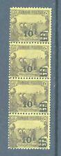 Tunisia 1928 Agriculture, SG 163, 10c on 15c, strip of four.