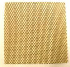 "Expanded Aluminium Mesh Gold coloured anodised finish 6"" x 6"" (152 x 152mm)"