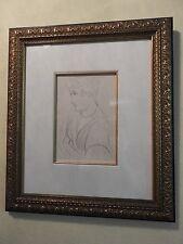 Henri Matisse Planche XXVII Portrait of a Women Framed Authentic Lithograph COA