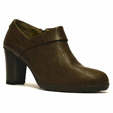 High Heel (3-4.5 in.) Booties Block Lace Up Boots for Women