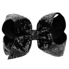 """8"""" Large Sequin Glitter Bow Hair Clips for Baby Girl Toddlers Kids Children Gift"""