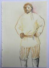 Beau Dessin Portrait Homme Mousquetaire PIERRE-HENRI BOUSSARD Sard #29