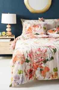 New Anthropologie Helen Dealtry Velvet Garden Quilt KING