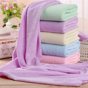 New Microfiber Absorbent Quick Dry Towel Soft & Solid Large Bath, Cleaning Towel
