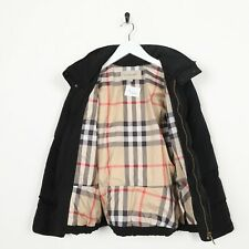 Vintage Kids Girls BURBERRY Nova Check Lined Puffer Coat Jacket Black | 12 Years