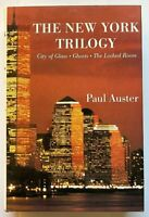 """Paul Auster """"The New York Trilogy"""" ©1994 HC 1st Edition, Signed by Auster, VG+"""