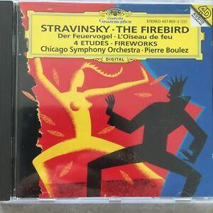 STRAVINSKY: The Firebird / 4 Etudes / Fireworks - Boulez (CD DG 437 850-2 / neu)
