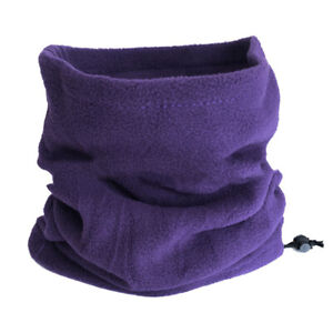 DI- KE_ Fashion Winter Outdoor Solid Color Thick Fleece Neck Warmer Gaiter Cover