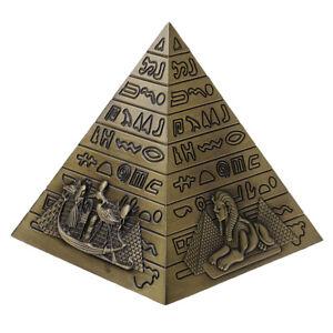 10cm Metal Pyramids Statue Building Architecture Model Travel Souvenir Gift