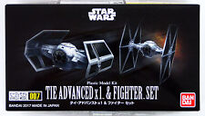 Bandai Star Wars Vehicle Model 007 Tie Advanced x1 & Fighter Set kit 145028