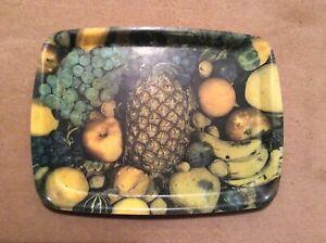 Vintage 1960s 1970s Fruit Selection Design Pineapple  Retro Tea Drinks Tray