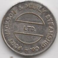 """Token Port Jackson Manly Steamship Co Sydney NSW Australia """"Manly Ferry"""" 22mm"""