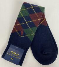 Polo Ralph Lauren Mens Socks Argyle Navy 10-13 Diamond Soft Warm Crew 889169 NEW