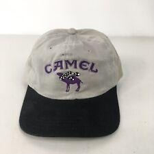 Vintage Camel Cigarettes Logo Baseball Cap Hat Strapback Adjustable Gray NWOT