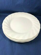 "Set of 3 Dinner Plates 10.5"" White Satin by Nikko Japan Microwave & Washer Safe"