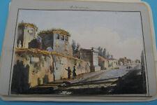 7 handkolorierte Ansichten Neapel und Pompeji um 1850