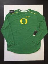 Nike Oregon Ducks Men's L/S Player Top Green Heather Size S