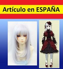 PELUCA SILVER Anna Kushina PLATEADA disfraz disfraces cosplay anime blanco 60cm