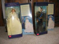 1982 Princess Diana and Prince Charles Wedding Dolls - Goldberger- Original Box