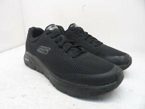 Skechers Men's Low-Cut Arch Fit Casual Work Shoes SN232040 Black/Black Size 12M