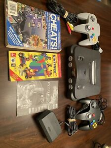 N64 System/Console, 2 Controllers, Cables-Accessories & Cheat-Cheat Manuals