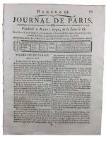 Compagnie des Indes 1790 Sinetti Hernoux Duc de Liancourt Révolution Française