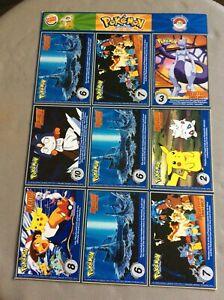 1999 Nintendo Pokemon Uncut Sheet Master Trainer #16 Burger King Promo