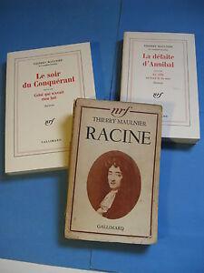 THIERRY MAULNIER LOT 3 VOLUMES 1939-83 ENVOI Signé LORRIS MIGNON RACINE