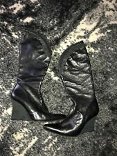 Diesel Women's Raffle Leather Wedges Boots, Size 36m, 6M, great!