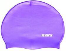 Maru Solid Silicone Swim Hat Purple Silicone