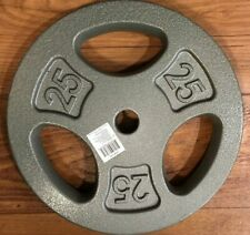 "Single Weight 5, 10, or 25 CAP Cast Iron Standard 1"" Grip Plates Barbell Weights"