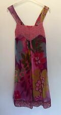 SIZE S DERHY PINK/FLORAL DRESS TOWIE/SUMMER/PARTY/FESTIVAL/HOLIDAY/BEACH RRP £75