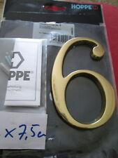 Hausnummer Nr. 6 oder 9 messing   12 cm x 7,5 cm  Fa. Hoppe