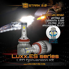 Stark 80W 9000LM Flip COB Chip LED Kit 6000K Headlight High Beam Bulbs - H9
