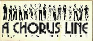 "A CHORUS LINE 1975  ORIGINAL UNPOSTED POSTCARD  8 1/4"" x 3 1/2"" Last one"