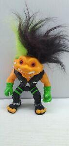 Punk rocker battle troll doll 13cm  green black hair 1992 Hasbro