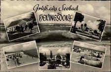 Heringsdorf Usedom DDR AK 1958 Ostsee Mehrbildkarte Strand Küste Meer Menschen