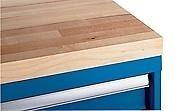 "LISTA XSBTOP-60 - 60"" x 30"" x 1-3/4"" Butcher Block Work Top, Radius edge"