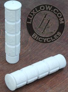 White Fixie Track Bike Grips Fixed Gear Old School BMX Cruiser MTB Bicycle Grip