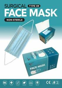 CERTIFIED Best Quality Type 2 IIR Face Masks, Hypoallergenic   Pack of 50