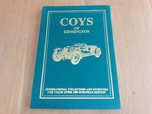 Coys Of Kensington 1989 Car Value Guide, Limited Edition Hardcover,
