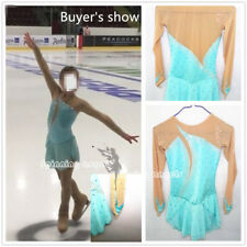 Girls Women Ice Skating Dress Custom Competition Ice Figure Skating Dress W162