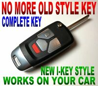 I-KEY STYLE FLIP REMOTE FOR 2001-02 CHEVY SILVERADO ALARM BEEPER FOB KOBLEAR1XT