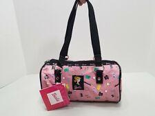2004 Barbie Small Barrel Purse. Makeup Bag Nwt Ponytail Pink Design
