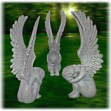 ENGEL Engelfigur Dekofigur Dekoengel Skulptur Polystein Neu+Patina 31cm - Z-009