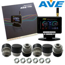 AVE Universal LCD TPMS 6 External Sensors & 6M Antenna Easy and Quick DIY MIT