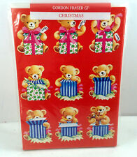 Gordon Fraser Cards Teddy Bear Christmas Presents Full of Surprises Joy Set 6